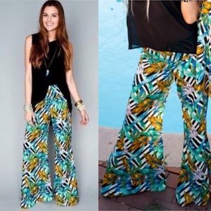 SMYM Roberts Party Flare pants Birds of Paradise